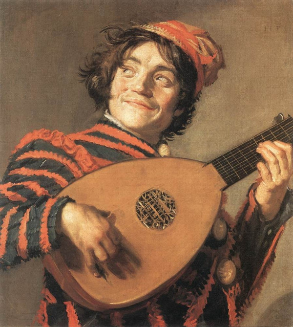 Frans Hals, pictor olandez (1582-1666) ~ Buffoon playing a lute