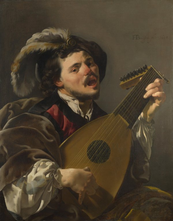 Hendrick ter Brugghen, pictor olandez (1588–1629) ~ A man playing a lute