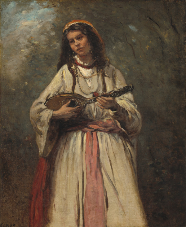 Jean-Baptiste Camille Corot, pictor francez (1796 -1875) ~Gypsy with mandolin