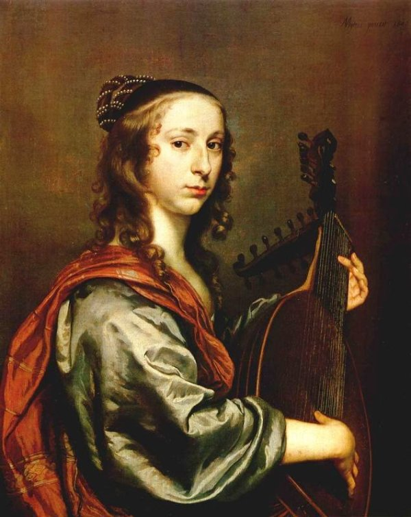 Johannes Mytens, pictor olandez (1614-1670) ~Woman playing the lute