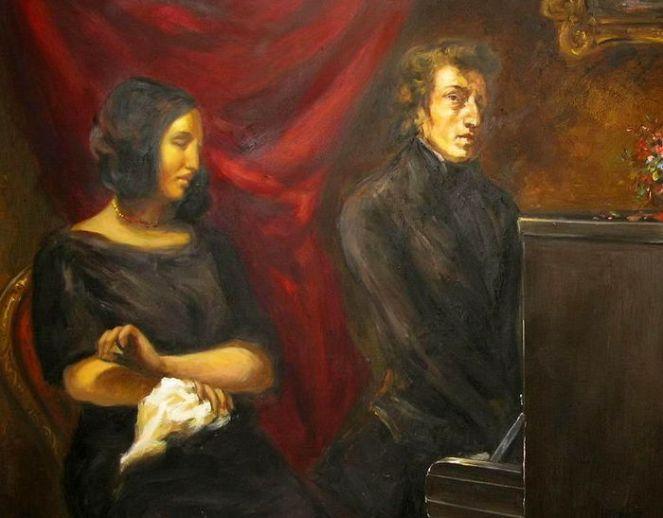 Delacroix. George Sand și Frederic Chopin