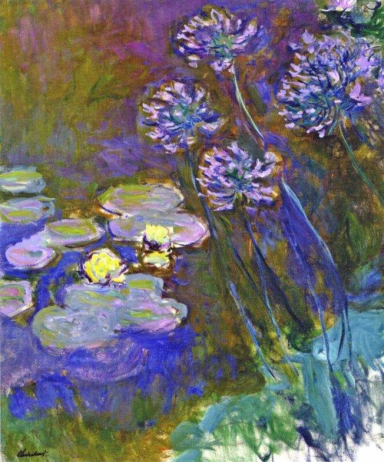 Această imagine are atributul alt gol; numele fișierului este water-lilies-and-agapanthus-1917.jpg
